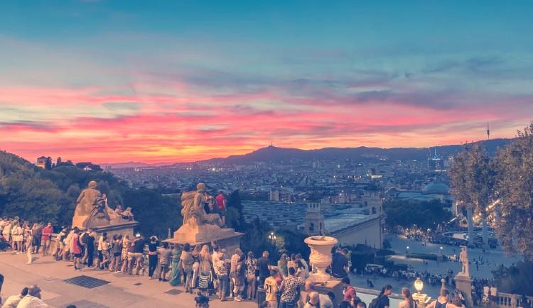 Atardecer desde Montjuic Barcelona
