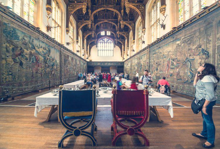 Interior del Palacio y jardines de Hampton Court