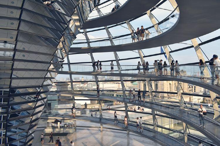 Interior del Reichstag en Berlín