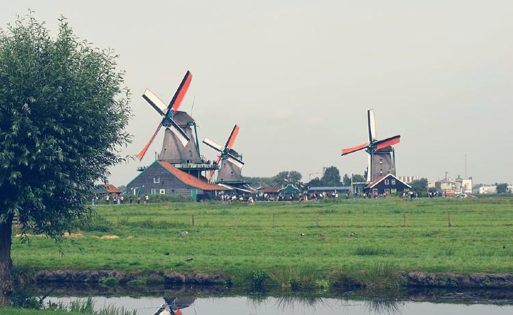 Molinos de viento en Ámsterdam