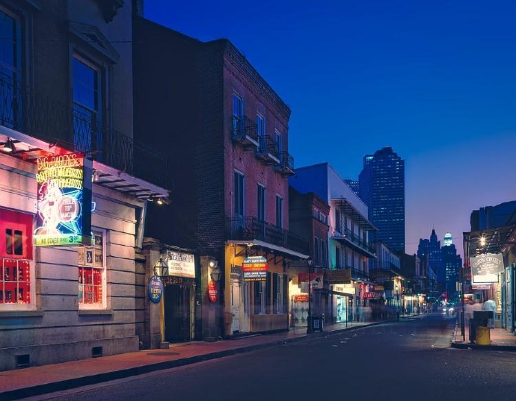 Una calle de Nueva Orleans