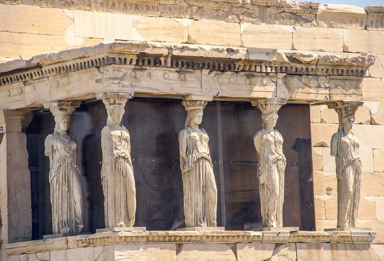 Qué ver en Atenas. Erecteión en el Acrópolis de Atenas