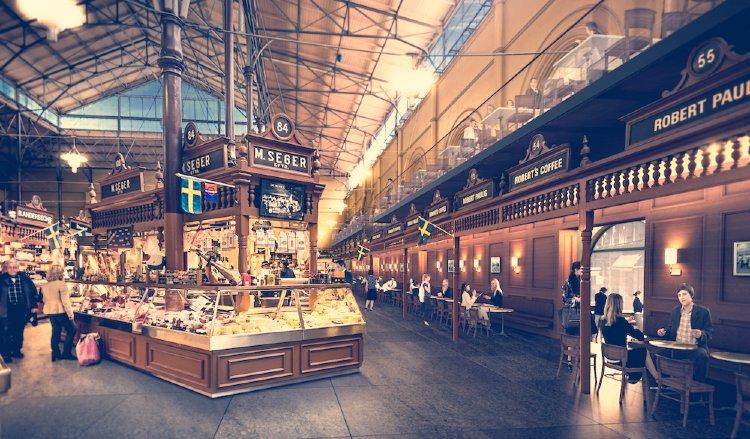 Mercado de Östermalmshallen, Estocolmo