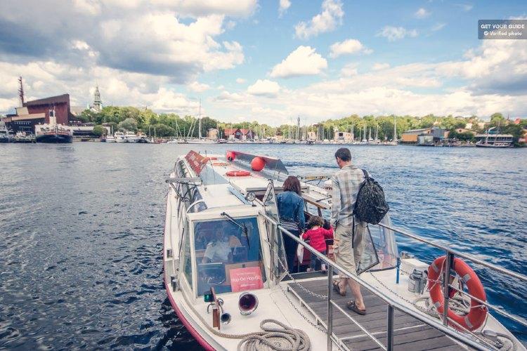 Paseo en barco por Estocolmo